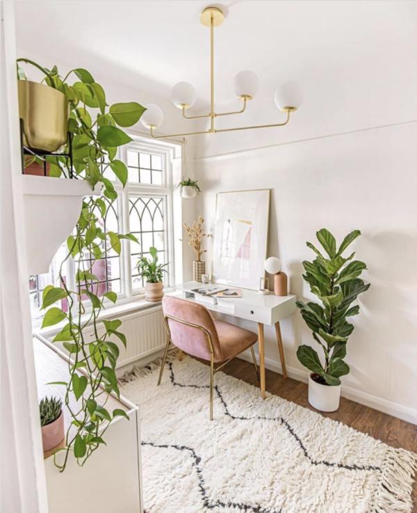 Идеи вдохновляющих домашних офисов из Instagram