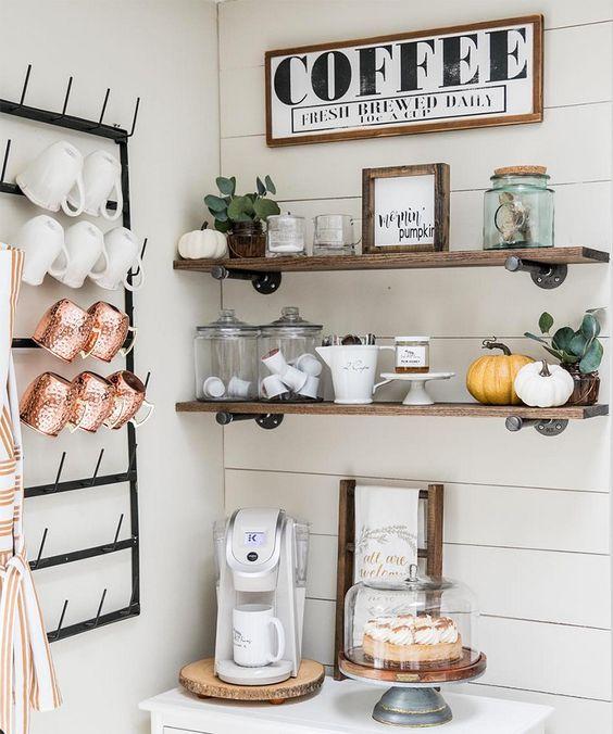 9 идей для домашнего кофе-бара