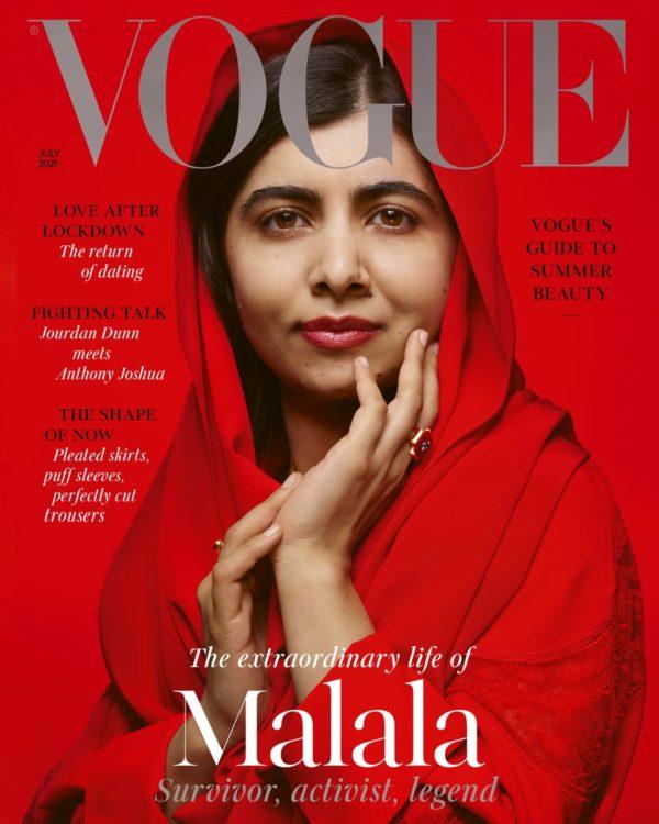 Малала Юсуфзай в своем платке на обложке британского Vogue: «У вас может быть собственный голос в рамках вашей культуры»